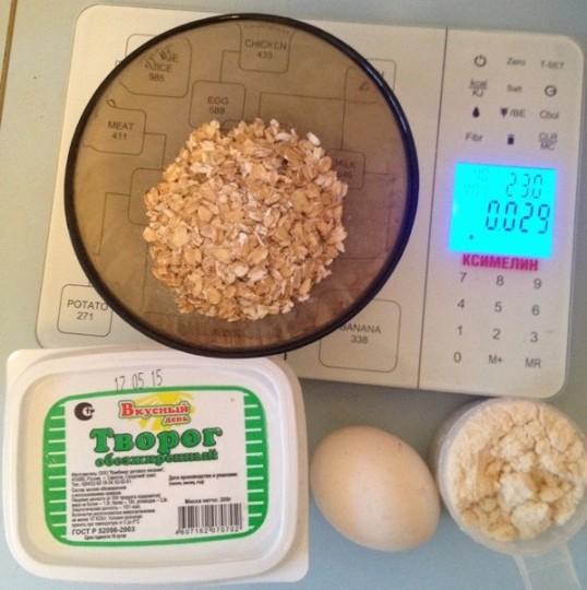 Ингредиенты для рецепта протеиновых сырников
